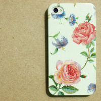 iphone 4 case / iphone 4 cover / iphone 4s case / iphone 4s cover / handmade iphone 4 case decoupage  : Las Rosas