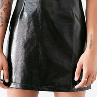 Cooperative Clean Patent Vegan Leather Mini Skirt - Urban Outfitters