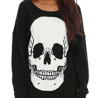Iron Fist White Skull Girls Sweater