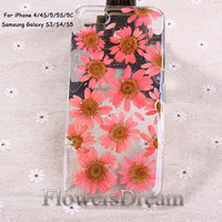Pressed Flower iPhone 5 case, iPhone 5s case, iPhone 5c case, iPhone 4s case,iPhone 4 case, Galaxy S4 case, Galaxy S3 case, Real Flowers-096