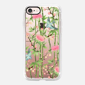 Bamboo, Birds and Blossoms - transparent iPhone 7 Case by Micklyn Le Feuvre | Casetify