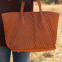 Almost Home Purse: Cognac - One