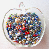 Bead Soup Mix, Luster Mix Glass,  Craft Supplies, Jewelry Supplies, Loose Bead Lot,  Bead Supplies, Jewelry Making Beads, Glass Bead Mix