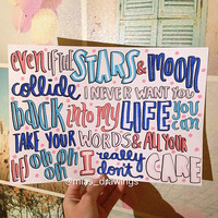 Really Don't Care- Demi Lovato ft. Cher Lloyd lyric art