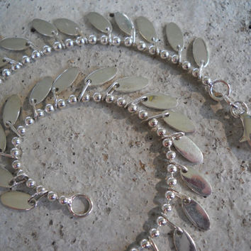 Sterling Dangling Anklet