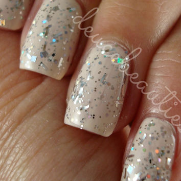 Silver Snakes - Full Size (15ml/.5oz) Glitter Nail Polish