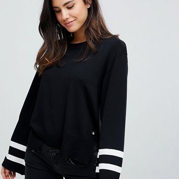 G-Star Knit Jumper with Sleeve Detail at asos.com