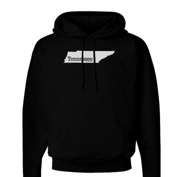 Tennessee - United States Shape Dark Hoodie Sweatshirt by TooLoud