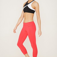 Active Mesh Capri Leggings | Forever 21 - 2000185293