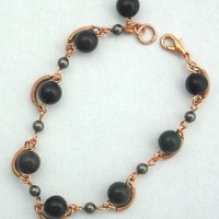 Bloodstone and Copper Bracelet