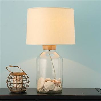 Fillable Glass Jug Table Lamp - Large - Shades of Light
