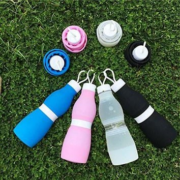 Folding Water Bottle Water Kettle for Sport Travel Outdoor, BPA Free, Big Capacity 700 ml