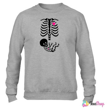 Full Maternity Skeleton X ray MP - Copy Crewneck sweatshirtt
