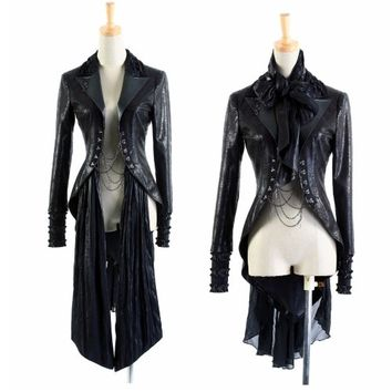 Black Gothic Vampire Emo Goth Halloween Costumes Jackets Women Men SKU-11401145