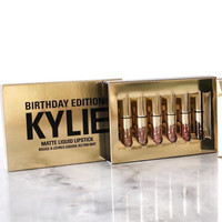 (New Valentine's Day Collection)Kylie Lip 6 colors 6pcs Set Matt Cup Lip Gloss Jovial [6381341892]