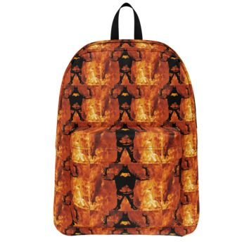 GFY Boys Beast Mode Orange Black Backpack