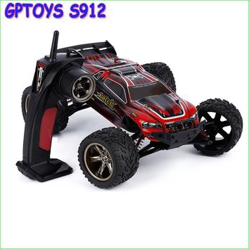 1pcs Gptoys S912 models RC Remote Control Car Styling Carrinho de Controle Remoto Bigfoot speed model Gasoline SUVs