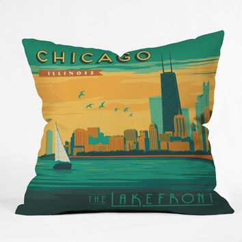 Anderson Design Group Lakefront Chicago Throw Pillow