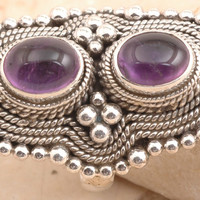 Old-fashioned Amethyst Ring in 925 Sterling Silver