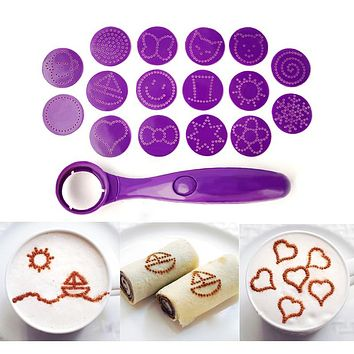 Magic Spice Spoon Decorating Tools 16 Different Images Decor Coffee Cake Piping Spoons