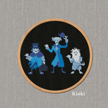 Cross Stitch Pattern The Hitchhiking ghost Instant Download
