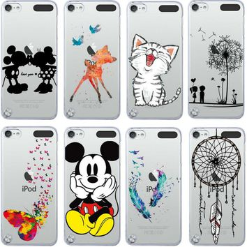 For iPod Touch 5 Case Super Cute Mickey&Minnie Kiss Cat Painted For Apple ipod touch 5 5th Cover Coque