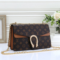 Women Fashion Leather Chain Crossbody Satchel Shoulder Bag