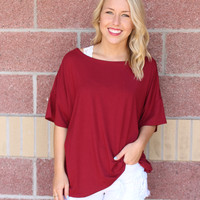 Piko crew neck short sleeve top w/ loose sleeves-more colors