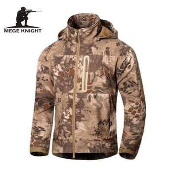 MEGE Brand Men's Military Style Tactical Camouflage Jackets and Coats