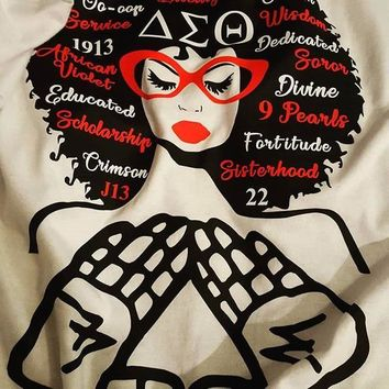DST Words in Afro Shirt