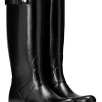 HUNTER ORIGINAL TALL NORRIS FIELD BLACK GLOSS WELLINGTON BOOTS Welly SIZES 6-10