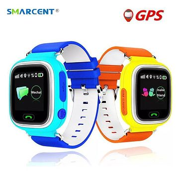 SMARCENT Q90 Q50 Kids Smart Watch GPS Tracker Touch Screen WIFI Baby Watch SOS Call Positioning Location Anti Lost Monitor Clock