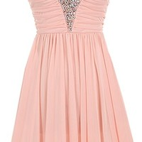 Iced Princess Dress | Pink Embellished Bust Bridesmaid Dress | RicketyRack.com