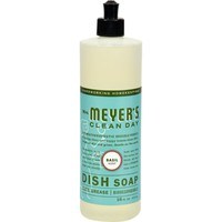 Mrs. Meyer's 16 oz Liquid Dish Soap - Basil