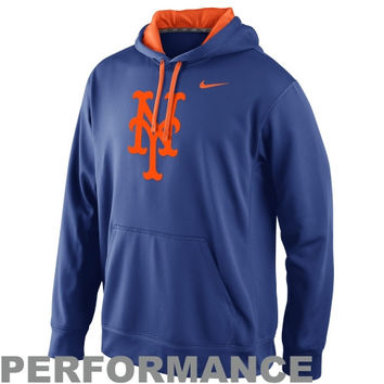 Nike New York Mets Knock Out Pullover Performance Hoodie - Royal Blue