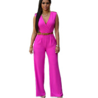 Summer Rompers Women Jumpsuit Harajuku Sleeveless Brand Clothes Office Macacao Elegant Overalls Sexy Combinaison Femme Long Pant