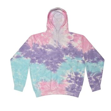 Tie Dye Pullover Multi Color Colorful Cotton Candy Hoodie