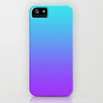 Purple & Teal iPhone & iPod Case by KrashDesignCo.