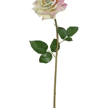 """Silk French Rose in Lavender Green - 30"""" Tall"""