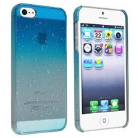 eForCity® Clear Sky Blue Waterdrop Raindrop Hard Case Compatible with Apple® iPhone® 5