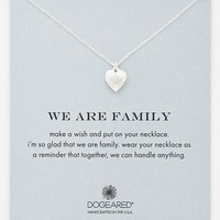 Women's Dogeared 'We Are Family' Boxed Pendant Necklace