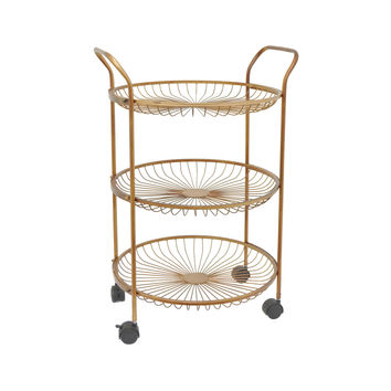Melody Rolling Cart in Metal
