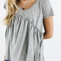 Sing Me A Song Top - Grey