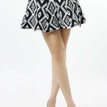 Skater Skirt with Aztec Print