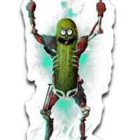 It's Pickle Rick! Sticker Decal