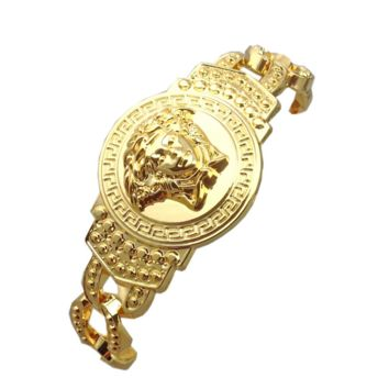18K Gold Classic VERSACE Bracelet Hip Hop Jewelry Fashion