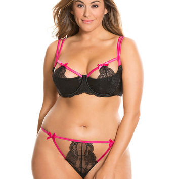 Strappy Lace Bra & panty set | Lane Bryant