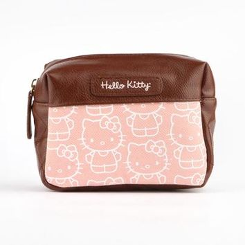 Hello Kitty Cosmetic Bag: Chestnut Pink