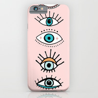 eye illustration print iPhone & iPod Case by The Best Print Shop
