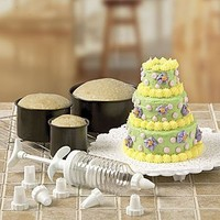 Amazon.com: 6PC MINI-TIERED CAKE PAN SET WITH DECORATING ACCESSORIES (TOTAL 14PC. SET): Everything Else